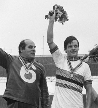 Martin Venix - Martin Venix (righ) with his pacer Noppie Koch at the 1979 World Championships