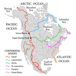 https://en.wikipedia.org/wiki/Continental_divide#/media/File:NorthAmerica-WaterDivides.png