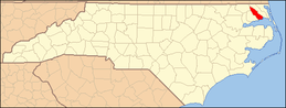 North Carolina Map Highlighting Pasquotank County.PNG