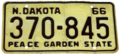 North Dakota 1966 license plate.png