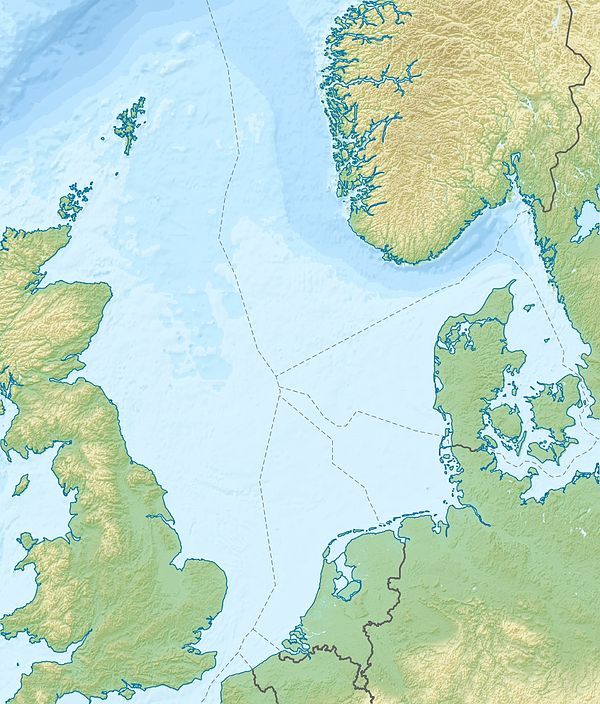 List of offshore wind farms in the North Sea is located in North Sea