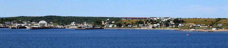 Panorama of North Sydney, Nova Scotia.