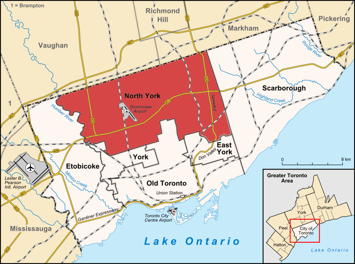 North York Wikipedia - Toronto canada map