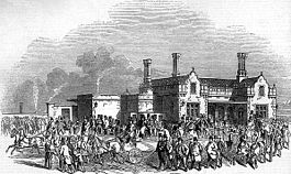 Northampton Bridge Street railway station engraving.jpg