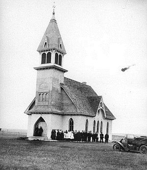 Norway Lutheran Church and Cemetery - Norway Lutheran Church in 1912
