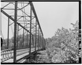 OBLIQUE VIEW OF BRIDGE, LOOKING SOUTH-SOUTHEAST - Bridge over Bird Creek, Spanning Bird Creek, Avant, Osage County, OK HAER OKLA,57-AVA,1-2.tif