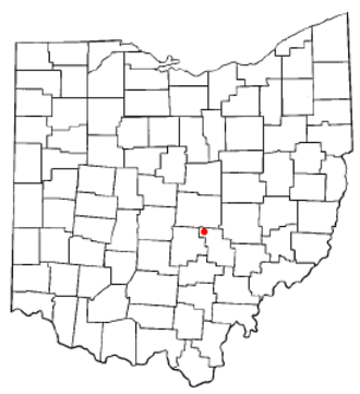 Thornville, Ohio - Image: OH Map doton Thornville
