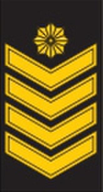 Lithuanian military ranks and insignia - Image: OR 9 vyresnysis laivūnas