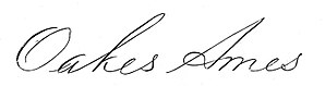 Oakes Ames - Image: Oakes Ames 1804 1873 signature