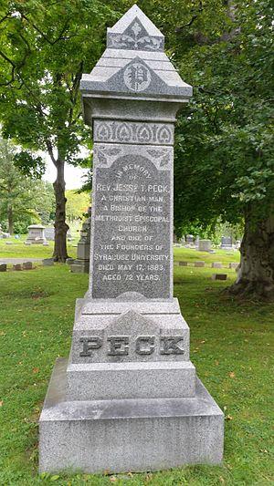 Jesse Truesdell Peck - Memorial to Rev. Jesse T. Peck, Oakwood Cemetery, Syracuse, New York