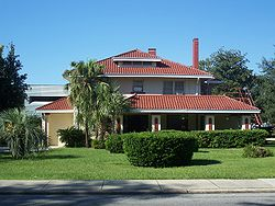 Helvenston House, part of the Ocala Historic District, in Ocala, Florida.