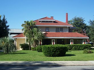 Historic districts in the United States - Helvenston House, part of the Ocala Historic District, in Ocala, Florida
