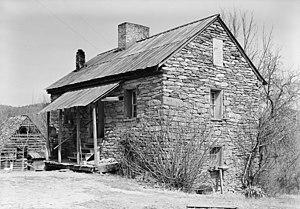 Oconee Station State Historic Site - Image: Oconee Station blockhouse