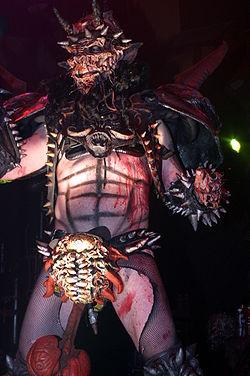 Dave Brockie on stage as Oderus Urungus in 2004. Image: Mark Marek.