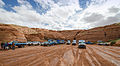 Off-road vehicles in front of Antelope Canyon 2013.jpg