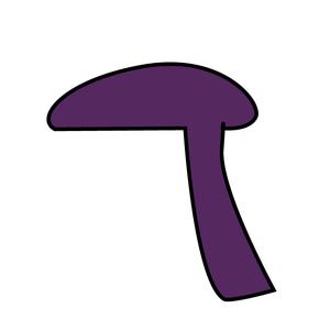 Pileus (mycology) - Image: Offset cap icon