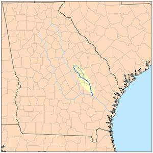 Ohoopee River - Image: Ohoopeerivermap