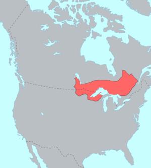 Ojibwe - Distribution of Ojibwe-speaking people