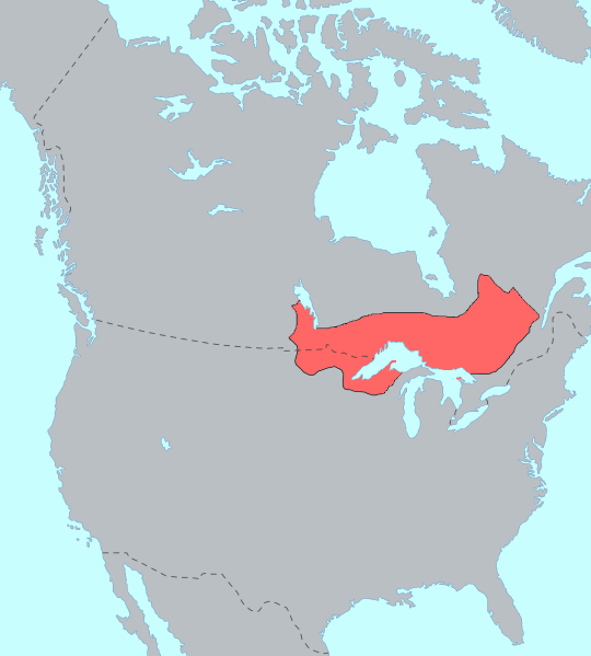 Ojibwe Language Map
