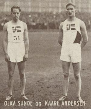 Olav Sunde - Olav Sunde and Kaare Andersen ca. 1930