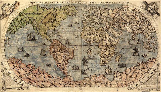 خريطة عالم سنة 1500 ميلادي