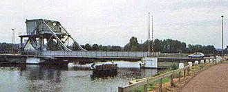 Pegasus Bridge - Pegasus Bridge before its replacement