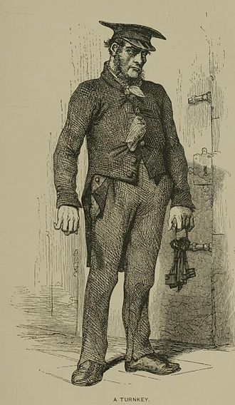 Prison officer - A turnkey of a Paris prison, 19th century