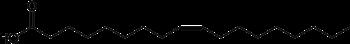 Oleic acid shorthand formula.PNG