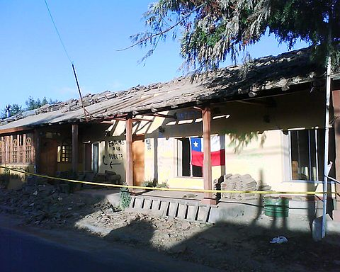 Many houses in Lolol were declared Historic Monuments of Chile. This is one of many that are going to be demolished. Image: Diego Grez.