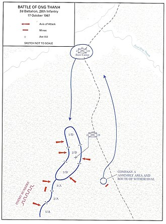 Battle of Ong Thanh - Map of the Battle of Ong Thanh