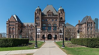 Old Toronto - Built in 1893, the Ontario Legislative Building houses the Legislative Assembly of Ontario.