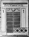 ontwerp bibliotheekkast in ovale zaal, tekening door l. viervant, in het teylers museum - haarlem - 20096585 - rce