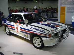 Opel Ascona - The Rothmans Ascona 400 which won the 1983 Safari Rally in the hands of Ari Vatanen.