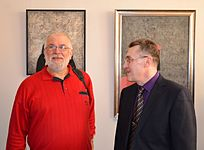 Opening of the exhibition «Adam Hlobus. Belarusian avant-garde of the 80-th» 24.03.2015 15.JPG