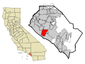 Orange County California Incorporated and Unincorporated areas Costa Mesa Highlighted.svg