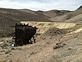 Ore bin and dump from the Deep Tunnel (aka, the Friedman Tunnel), Tunnel Camp ghost town, Seven Troughs Range, Looking W, Pershing Co., NV - panoramio.jpg