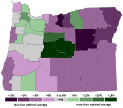Oregon Population Growth by County