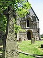 Ornate cross in the churchyard of St Lawrence's church - geograph.org.uk - 1878798.jpg