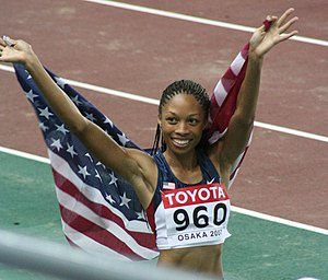 Jesse Owens Award - Allyson Felix received the award in 2005, 2007, 2010 and 2012.