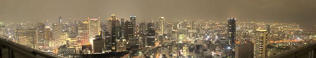 Osaka skyline at night from Umeda Sky Building.jpg