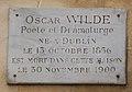 Oscar Wilde plaque, 13 rue des Beaux Arts, Paris 6.jpg