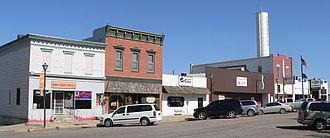 Osceola, Nebraska - Downtown Osceola: north side of courthouse square