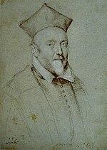 Gravure représentant un cardinal.