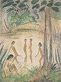 Otto Mueller - Fünf Badende in Seenlandschaft - 1918.jpeg