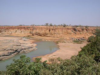 Ounjougou - Partial view of the Ounjougou archaeological sites complex, in the Yamé valley, near Bandiagara (Dogon Country, Mali)