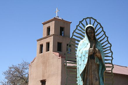 El Santuario de Guadalupe, 100 S. Guadalupe St. (downtown), is the oldest extant shrine to the Virgin of Guadalupe in the United States. Our Lady of Guadalupe Church 2.jpg