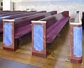 Overlulea kyrka-Church benches.jpg