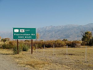 U.S. Route 6 in California - Image: P town