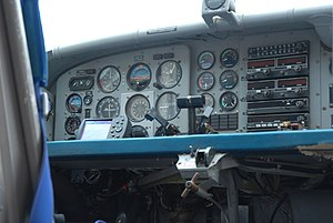 Pilatus PC-6 Porter - Analogue cockpit instrumentation of a PC-6, 2007