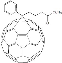 Structural formula of phenyl-C61-butyric acid methyl ester
